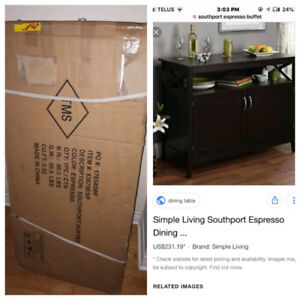 Southport Expresso Dining Hutch BRAND NEW