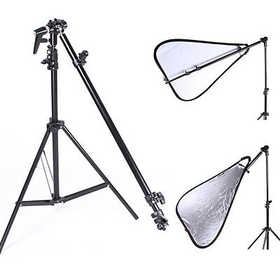Reflector Arm Boom Bracket Holder Swivel Head Increase Stent Photo Graph Studio