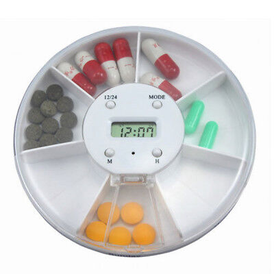 Pill Case Alarm - Portablle Digital Pill Box Timer Alarm Clock Reminder Medicine Organizer Case