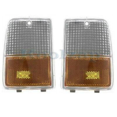 87-90 Chevy Caprice V6/V8 Corner Turn Signal Park Light Lamp Assembly Set Pair Chevy Caprice Turn Signal Light