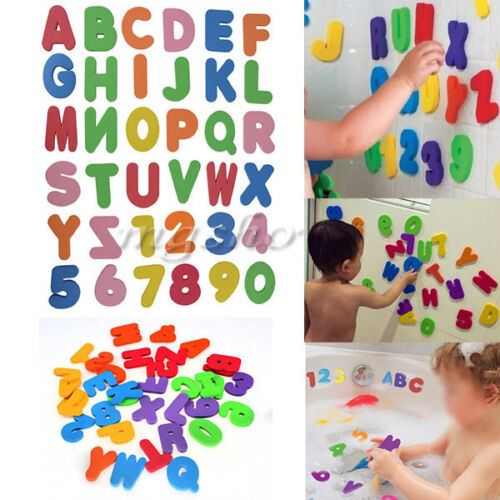 36x Children Baby Kids ABC 123 Foam Letters Numbers Bath Tub Swimming Play Toys