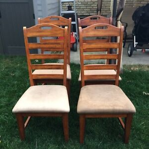 4 Wooden Chairs London Ontario image 1