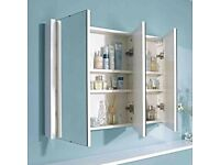 Premier 900mm 3 Door Mirror Cabinet LUXMW900