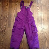 Osh Kosh 4T purple snow pants with bib