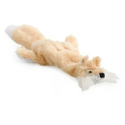 Ancol Mini Floppet Fox Small Dog / Puppy Unstuffed Comforter Toy with Squeakers