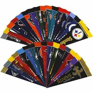 NFL-Football-4-x-9-Mini-Pennant-Banner-Flag-32-Team-Complete-Set-Fan-Cave-Decor