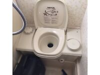 Cassette toilet camper van