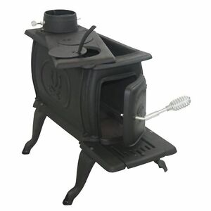 Cast-Iron-Logwood-Wood-Burning-Potbelly-Indoor-Cooking-Stove-Fireplace-M-1261