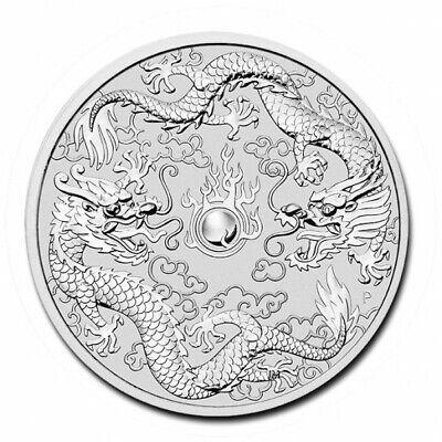 2019 Australia 1 oz Perth .9999 Silver Double Dragon (from mint roll)