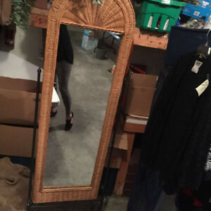 Stand Up Wicker Mirror, please come and take me home. Regina Regina Area image 2