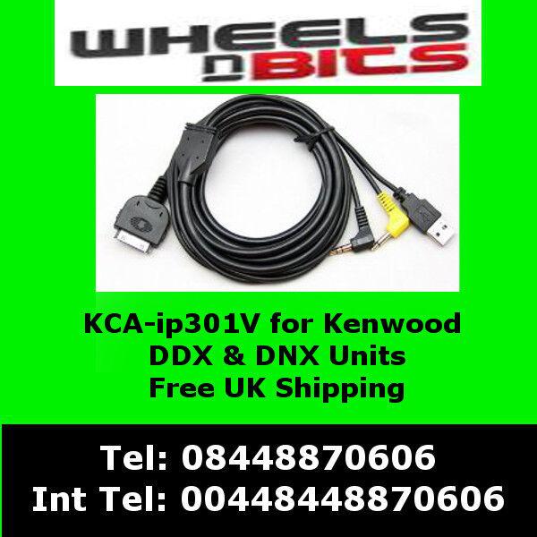 KCA-IP301V iPod iPhone adaptor interface for Kenwood DNX5260BT