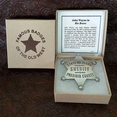 Old West Sheriff (Presidio County Sheriff Old West Replica Badge John Wayne Movie Rio)