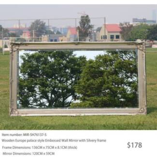 Contemporary Art Deco Wall Mirror, Bevelled Glass from $223