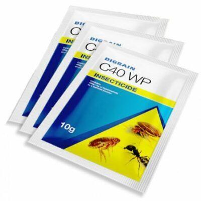 DIGRAIN C40 WP ( Ficam alternative ) 15x10g WASPS FLEAS ANTS BEDBUGS COCKROACHES