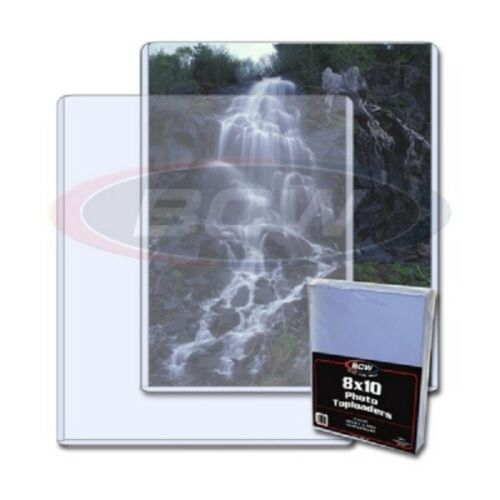 Quality BCW 8x10 Topload For Photographs & Documents Holder Clear PVC Pack of 25