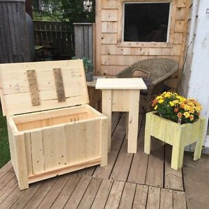 Pine tables and storage chest for sale & custom items