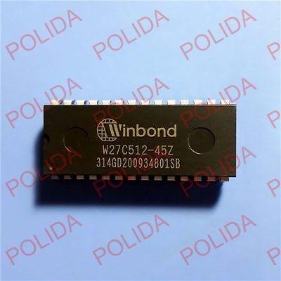 10pcs Eeprom Ic Winbond Dip-28 W27c512-45z