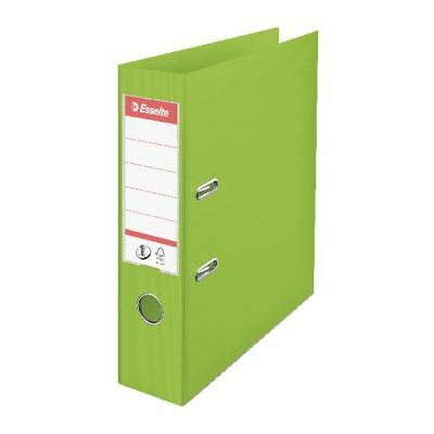 Esselte A4 Polypropylene 75mm Lime Green Lever Arch File (Pack of 10) [ES80663]