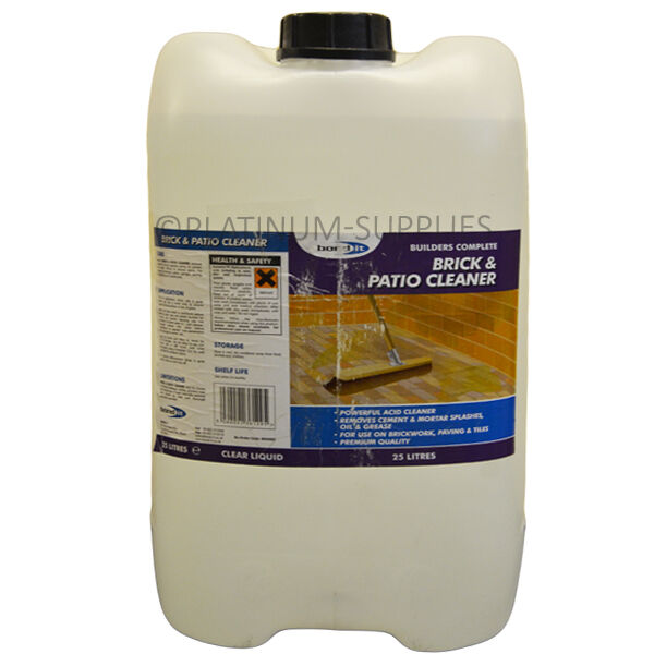 25l brick patio acid cleaner for mortar oil grease for Concrete cleaner oil remover