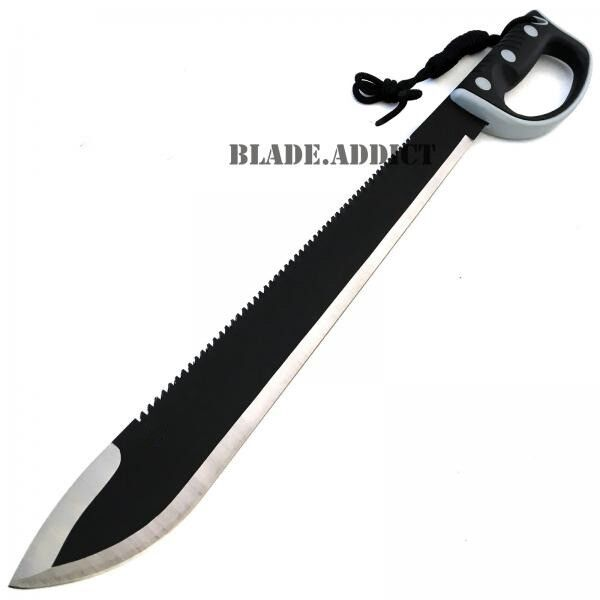 "24"" JUNGLE MACHETE HUNTING KNIFE MILITARY TACTICAL SURVIVAL SWORD NINJA Zombie"