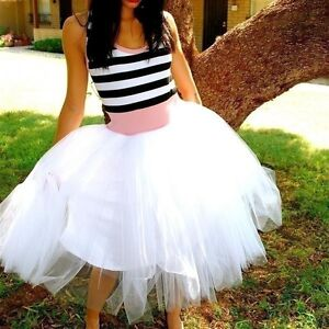 REDUCED! Brand new Black and White tea length cotton tulle dress