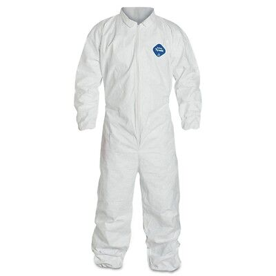 Dupont Ty125s White Tyvek Disposable Coverall Bunny Suit Welastic Wristsankles