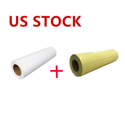 1 Roll Printable Heat Transfer Vinyl With 1 Roll Application Tape 23.6 X 5 Yard