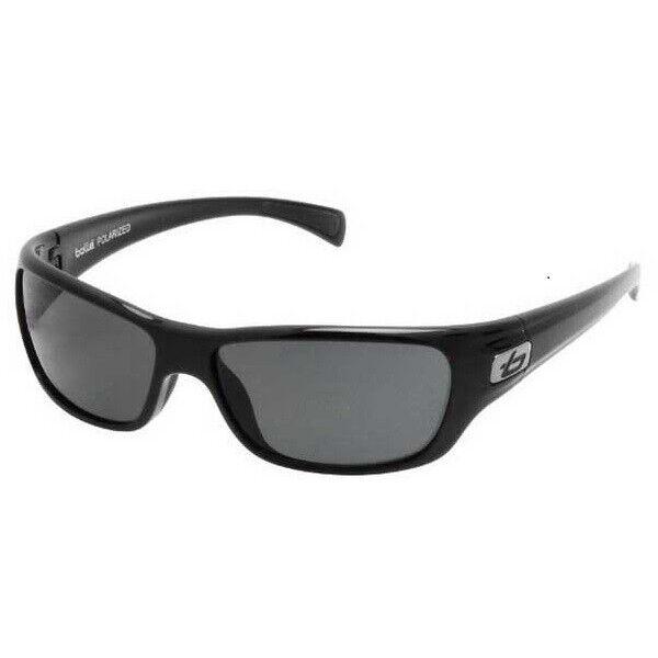 Bolle Men Unisex Sunglasses w/ Case Italy Gray Black Crown Kingsnake Viper Crown BO11275