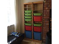Trofast IKEA Storage Units x 2 Tall Children's Storage Toys