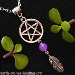 PENTAGRAM Talisman Pentacle PROTECTION AMULET Wicca Charm Necklace Pendant