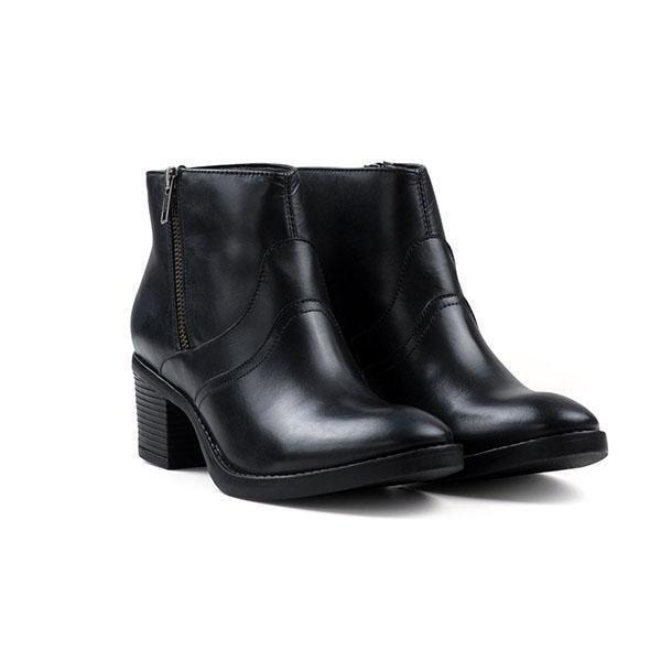 Redfoot Ladies Leather Sophia Black Heeled Zip Ankle Boots UK 8/Euro 42 RRP £90