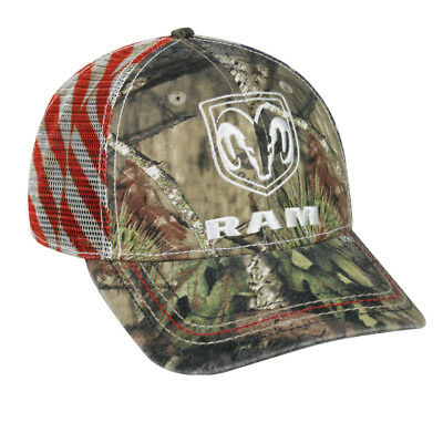 - DODGE RAM MOSSY OAK CAMO  FLAG Hat Low Profile Structured Cap Outdoor Cap