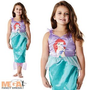 Ariel-Little-Mermaid-Girls-Classic-Disney-Kids-Fancy-Dress-Child-Costume-Outfit