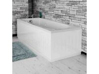 Tongue & Groove Bath Panel White 1700mm Front.... brand new