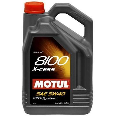 Motul USA 102870 Engine Oil 8100 X-cess Synthetic - 5W40 -