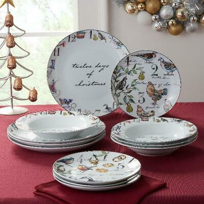 Better Homes & Gardens 12 Days of Christmas Celebration Dinnerware Set Of
