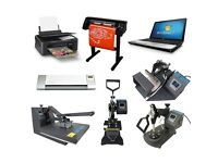 Print Business Heat Press Sublimation Vinyl Transfer Mugs T Shirts Signs