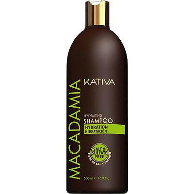 Kativa Macadamia Shampoo Idratante Libero Di Sale e Solfato 500 ml / 16.9 fl.oz