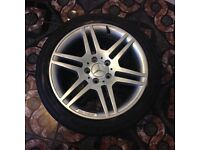 """Mercedes benz genuine AMG Alloys and Tyres 18"""" BARGAIN £300"""