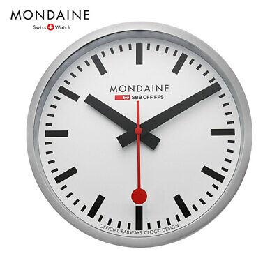 MONDAINE MSM.25S10 Stop2Go Smart Wall Clock Swiss Railway, Diameter 25cm