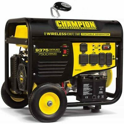 Champion 100161 - 7500 Watt Electric Start Generator W Rv Outlet Wireless ...
