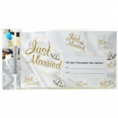 Riesen Umschlag Just Married für Geldgeschenke Party Deko Hochzeit (4.99€/1Stk)