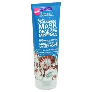 Freeman Dead Sea Minerals Facial Anti-Stress Mask, 6 Ounce, New