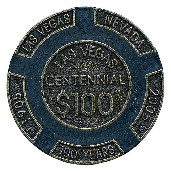100 16gr $100 Centennial Las Vegas Chips BRASS CORE Heavy Chips  FREE Shipping *