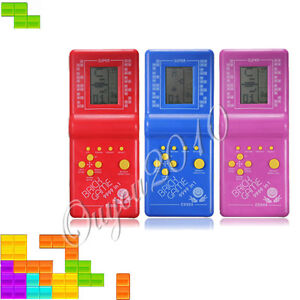 Tetris Game Hand Held LCD Electronic Game Toys Brick Classic Retro Games Gift UK