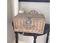 Shabby chic picnic basket