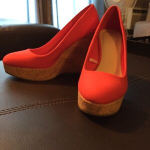 Size 5.5 Red Forever 21 Wedge's