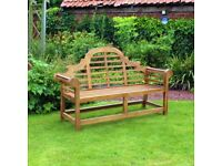 Curved Heavy Duty Teak Bench Garden Patio Furniture (FREE LOCAL DELIVERY)
