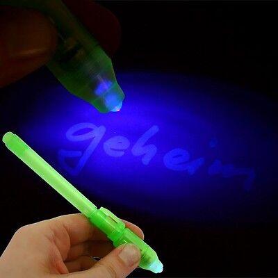 re Schrift, Tinte für geheime Nachrichten + Schwarzlichtlampe (Schwarzlicht Stift)