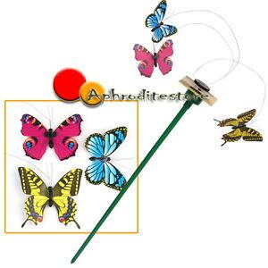 3x farfalle volanti ad energia solare per decorazione casa for Decorazione giardino per battesimo